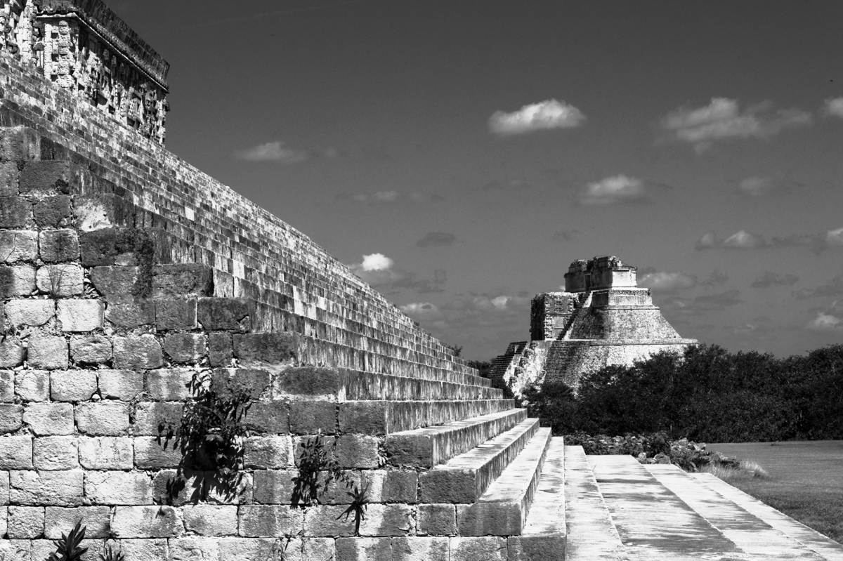 Jean philippe jouve black and white photography mexico uxmal